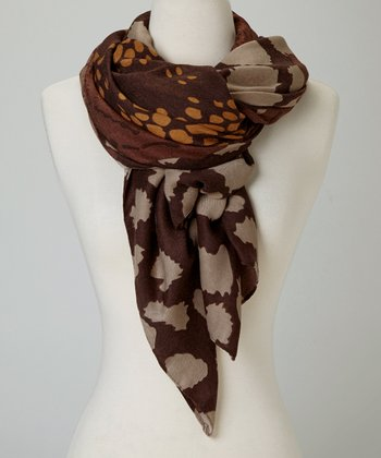 Brown Pebbles Scarf