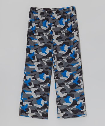 Black & Blue Camo Pajama Pants - Toddler & Boys