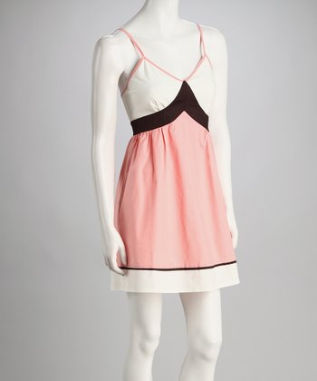 Blush & Black Color Block Dress