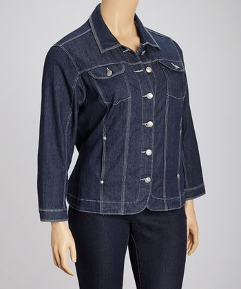 Indigo Jean Jacket - Plus