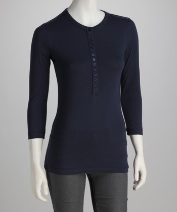 True Navy Henley