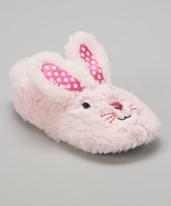 Light Pink Fuzzy Bunny Slipper - Kids
