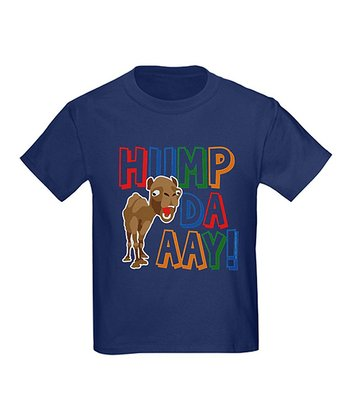 Navy & Red 'Hump Daaay!' Crewneck Tee - Toddler & Kids
