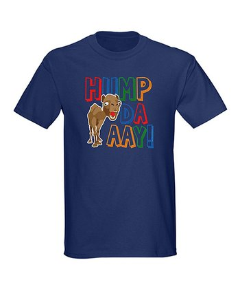 Navy 'Hump Daaay!' Rainbow Crewneck Tee - Men