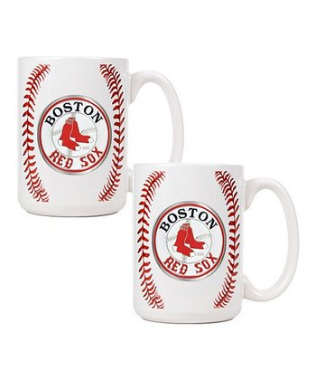 Boston Red Sox Baseball Coffee Mug - Set of Two