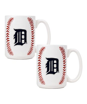 Detroit Tigers Baseball Coffee Mug - Set of Two