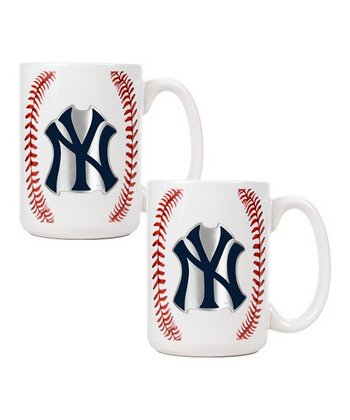 New York Yankees Baseball Coffee Mug - Set of Two