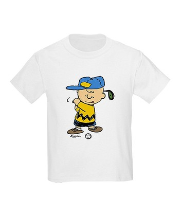 White Charlie Brown Golfer Tee - Toddler & Kids