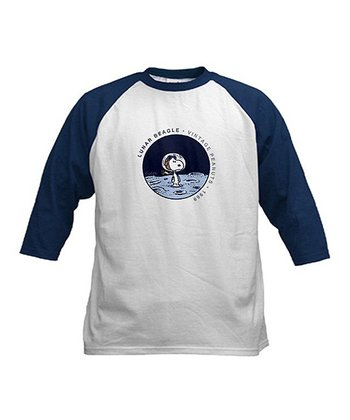 Navy & Blue 'Lunar Beagle' Raglan Tee - Boys
