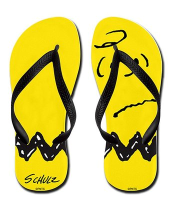 Yellow & Brown Zigzag Flip-Flop - Kids & Adults
