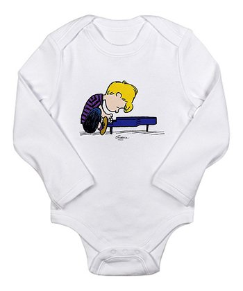Cloud White Schroeder Long-Sleeve Bodysuit - Infant