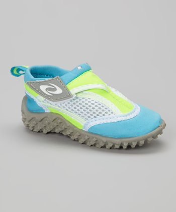 Turquoise & Lime Water Shoe