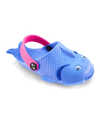Blue & Fuchsia Fish Clog