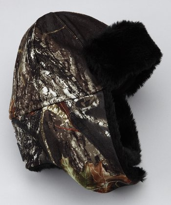 Green Camo Trapper Hat