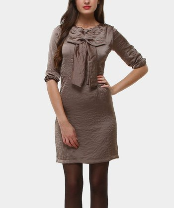 Beige Cecilia Arena Sheath Dress
