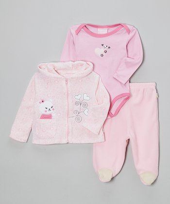 Pink Bear Bodysuit Set - Infant