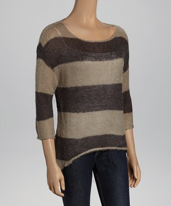 Gray & Heather Stripe Sweater