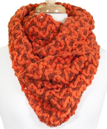 Orange Weave Infinity Scarf