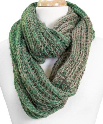 Green & Gray Infinity Scarf