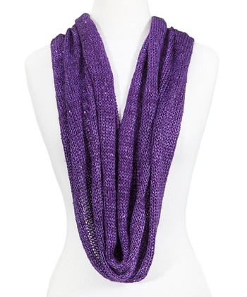 Purple Sparkle Infinity Scarf