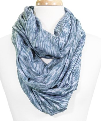 Light Blue Space-Dye Infinity Scarf