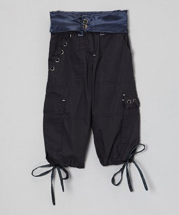 Black Rivet Cargo Pants