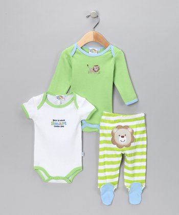 Green & White Layette Set - Infant