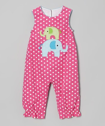 Hot Pink Elephant Playsuit - Infant