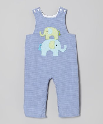 Blue Elephant Overalls - Infant & Toddler