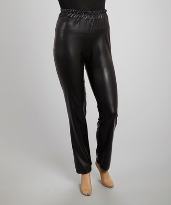 Black Cinch Cuff Pants - Plus