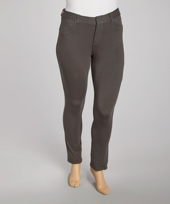 Charcoal Jeggings - Plus