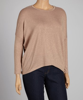 Taupe Top - Plus