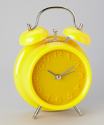 Yellow Monochrome Alarm Clock