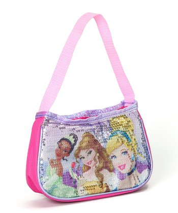 Pink & Purple Sequin Princess Shoulder Bag