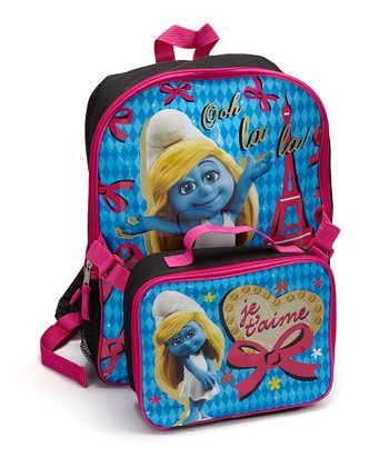 Black & Pink 'Ooh la la!' Smurfette Backpack & Lunch Bag