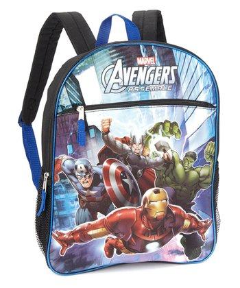 Black 'Avengers Assemble' Graphic Backpack