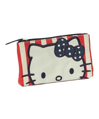 Hello Kitty Stripe & Star Pencil Case