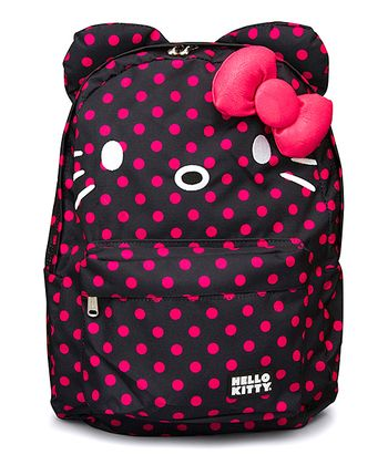 Pink & Black Hello Kitty Polka Dot Backpack