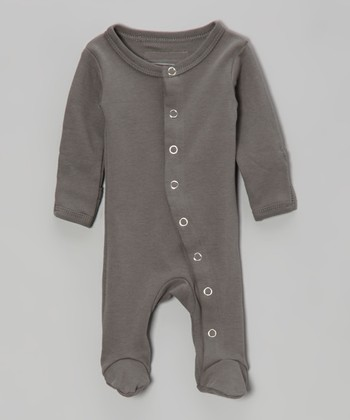 Clay Gray Gl'oved-Sleeve Footie - Infant