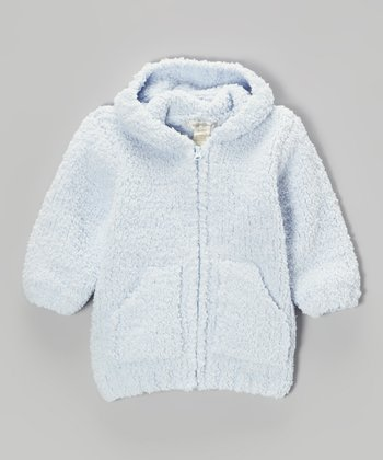 Light Blue Chenille Hoodie - Infant & Toddler