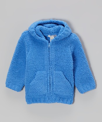 Royal Blue Chenille Hoodie - Infant & Toddler