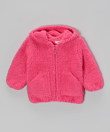 Pink Chenille Hoodie - Infant & Toddler