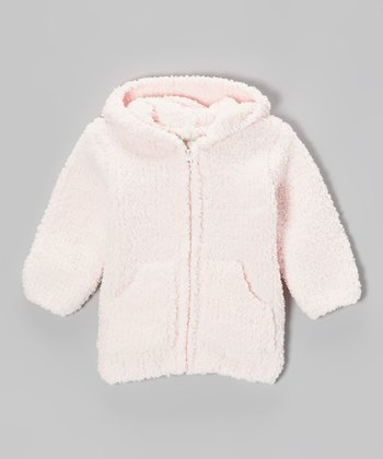 Light Pink Chenille Hoodie - Infant & Toddler