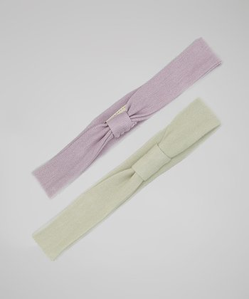 Green & Lavender Headband Set