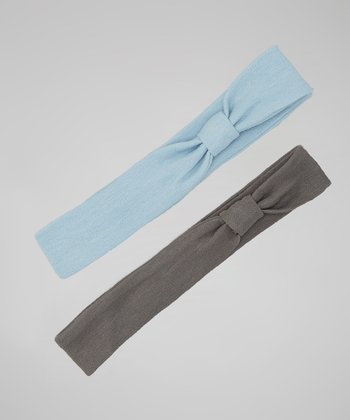 Blue & Gray Headband Set