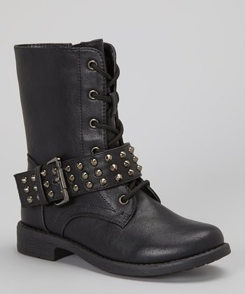 Black Studded Andrea Boot
