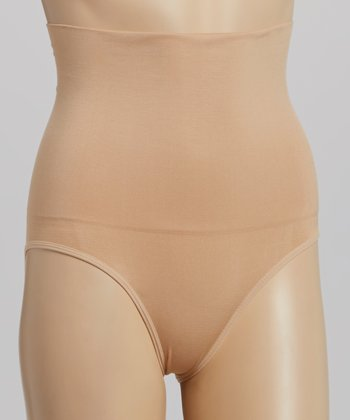 Tan Seamless Shaper Brief - Women