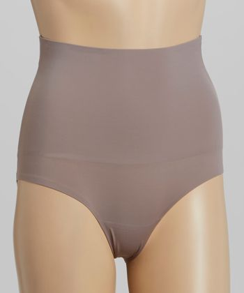 Grotto Gray Laser-Cut Shaper Briefs - Women