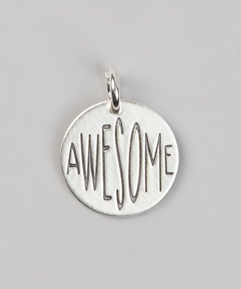 Five Little Birds Jewelry Sterling Silver 'Awesome' Charm