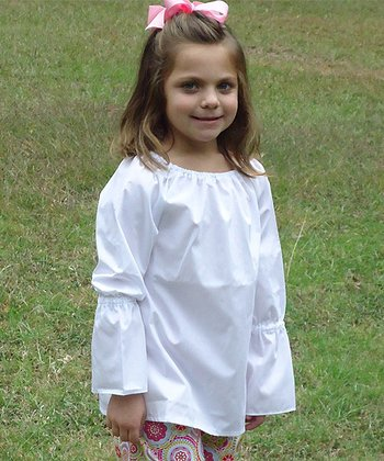 White Peasant Blouse - Infant, Toddler & Girls